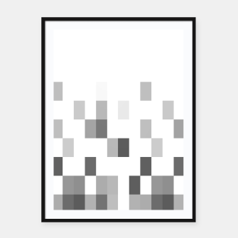 Thumbnail image of Grey scale pixels Framed poster, Live Heroes