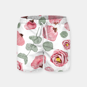 Thumbnail image of Rosy Romance Swim Shorts, Live Heroes