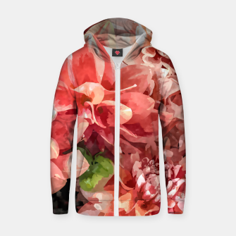 Thumbnail image of Beauty in Dahlia Zip up hoodie, Live Heroes