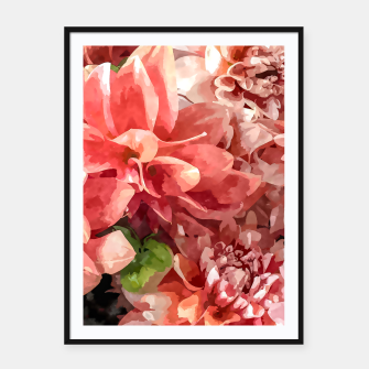 Thumbnail image of Beauty in Dahlia Framed poster, Live Heroes