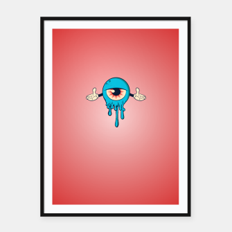 Thumbnail image of Blue Eye Framed poster, Live Heroes