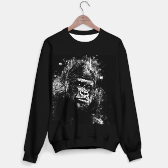 Thumbnail image of gorilla monkey face expression wsbw Sweater regular, Live Heroes