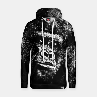 Thumbnail image of gorilla monkey face expression wsbw Hoodie, Live Heroes