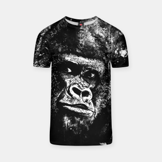 Thumbnail image of gorilla monkey face expression wsbw T-shirt, Live Heroes