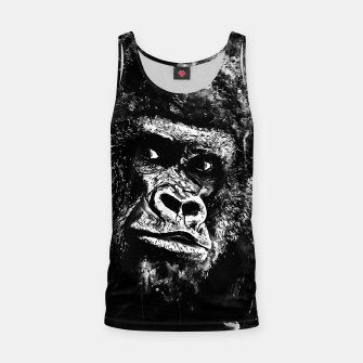 Thumbnail image of gorilla monkey face expression wsbw Tank Top, Live Heroes