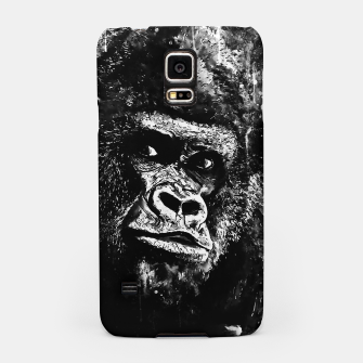 Thumbnail image of gorilla monkey face expression wsbw Samsung Case, Live Heroes