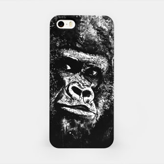 Thumbnail image of gorilla monkey face expression wsbw iPhone Case, Live Heroes