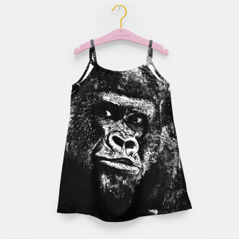 Thumbnail image of gorilla monkey face expression wsbw Girl's dress, Live Heroes
