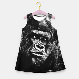 Thumbnail image of gorilla monkey face expression wsbw Girl's summer dress, Live Heroes