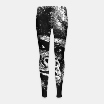 Thumbnail image of gorilla monkey face expression wsbw Girl's leggings, Live Heroes