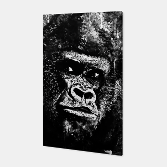 Thumbnail image of gorilla monkey face expression wsbw Canvas, Live Heroes