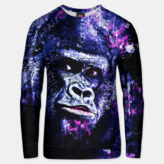Thumbnail image of gorilla monkey face expression wscb Unisex sweater, Live Heroes