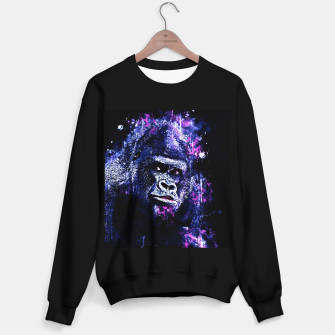 Thumbnail image of gorilla monkey face expression wscb Sweater regular, Live Heroes