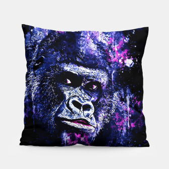 Thumbnail image of gorilla monkey face expression wscb Pillow, Live Heroes