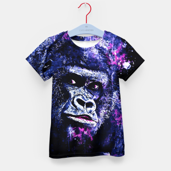 Thumbnail image of gorilla monkey face expression wscb Kid's t-shirt, Live Heroes