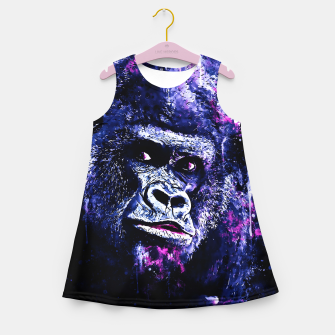 Thumbnail image of gorilla monkey face expression wscb Girl's summer dress, Live Heroes
