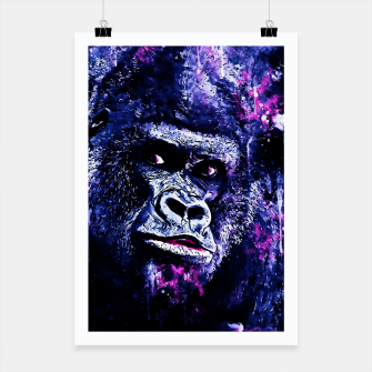 Thumbnail image of gorilla monkey face expression wscb Poster, Live Heroes