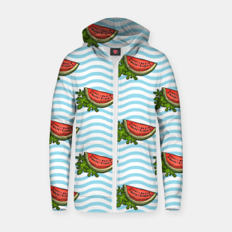 Thumbnail image of Watermelon Blossom Zip up hoodie, Live Heroes