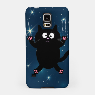 Thumbnail image of Space Falling Cat Samsung Case, Live Heroes