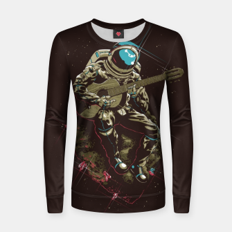 Thumbnail image of Astronaut Guitar Women sweater, Live Heroes