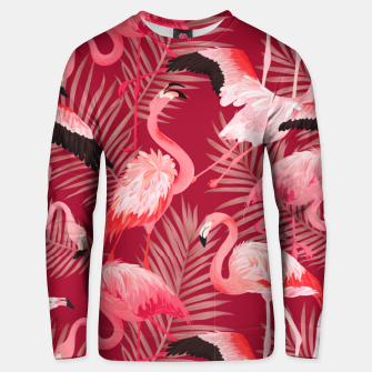 Thumbnail image of Red Flamingosss Unisex sweater, Live Heroes