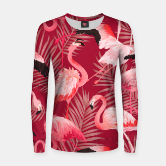 Thumbnail image of Red Flamingosss Women sweater, Live Heroes