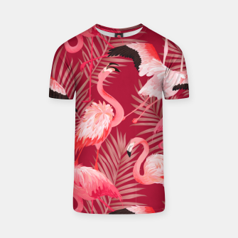 Thumbnail image of Red Flamingosss T-shirt, Live Heroes