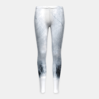 Miniatur White surround Girl's leggings, Live Heroes
