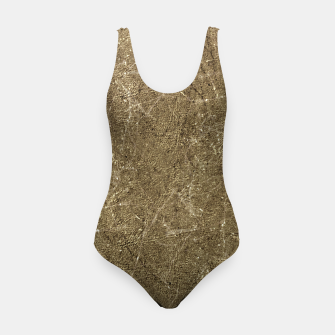 Thumbnail image of Grunge Abstract Textured Print Swimsuit, Live Heroes