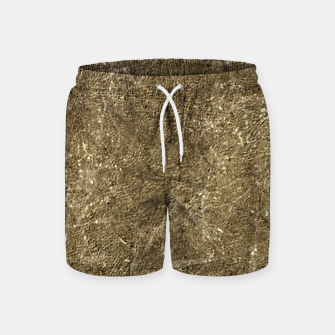 Thumbnail image of Grunge Abstract Textured Print Swim Shorts, Live Heroes