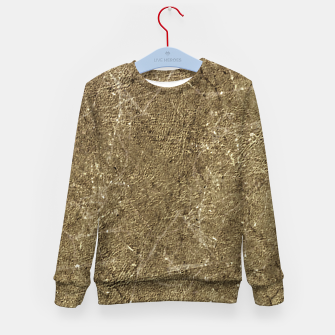 Thumbnail image of Grunge Abstract Textured Print Kid's sweater, Live Heroes