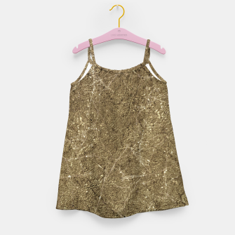 Thumbnail image of Grunge Abstract Textured Print Girl's dress, Live Heroes