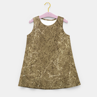 Thumbnail image of Grunge Abstract Textured Print Girl's summer dress, Live Heroes