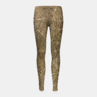 Thumbnail image of Grunge Abstract Textured Print Girl's leggings, Live Heroes