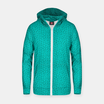 Thumbnail image of Leopard - Robin's Egg Blue Sudadera con capucha y cremallera , Live Heroes