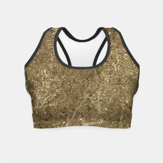 Thumbnail image of Grunge Abstract Textured Print Crop Top, Live Heroes