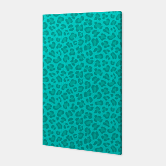 Thumbnail image of Leopard - Robin's Egg Blue Canvas, Live Heroes