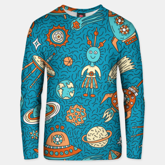 Thumbnail image of Space Freak UFOs Unisex sweater, Live Heroes