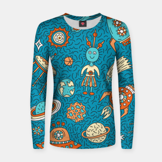 Thumbnail image of Space Freak UFOs Women sweater, Live Heroes