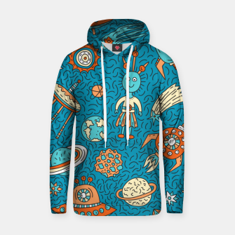 Thumbnail image of Space Freak UFOs Hoodie, Live Heroes