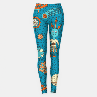 Thumbnail image of Space Freak UFOs Leggings, Live Heroes