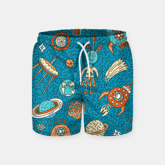 Thumbnail image of Space Freak UFOs Swim Shorts, Live Heroes