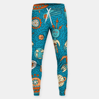 Thumbnail image of Space Freak UFOs Sweatpants, Live Heroes