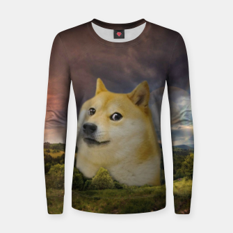 Thumbnail image of Doge Meme Women sweater, Live Heroes