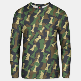 Thumbnail image of Chess Camo WOODLAND Unisex sweater, Live Heroes