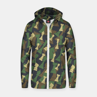 Thumbnail image of Chess Camo WOODLAND Zip up hoodie, Live Heroes
