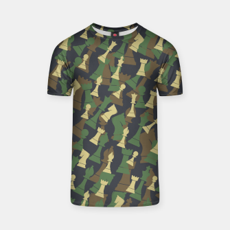 Thumbnail image of Chess Camo WOODLAND T-shirt, Live Heroes