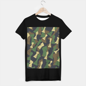 Thumbnail image of Chess Camo WOODLAND T-shirt regular, Live Heroes