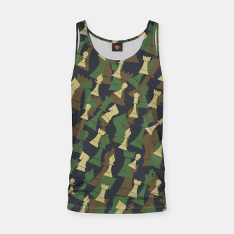 Thumbnail image of Chess Camo WOODLAND Tank Top, Live Heroes