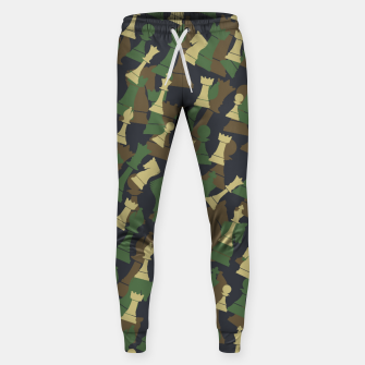 Thumbnail image of Chess Camo WOODLAND Sweatpants, Live Heroes